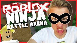 ROBLOX - NINJA BATTLE ARENA - RANK #1 NINJA IN THE GAME!? (Funny Moments Gameplay)
