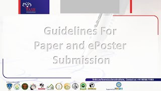 Guidelines For Paper and ePoster Submission