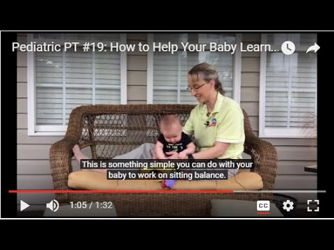 Pediatric PT #19:  How to Help Your Baby Learn Sitting Balance