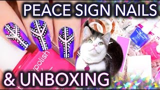 Video Peace sign dotticure nail art with Trendy Polish subscription box! MP3, 3GP, MP4, WEBM, AVI, FLV November 2018