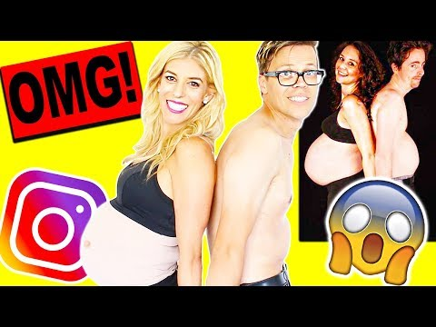 RECREATING CRINGY BABY ANNOUNCEMENT PHOTOS!! ( PART 2)
