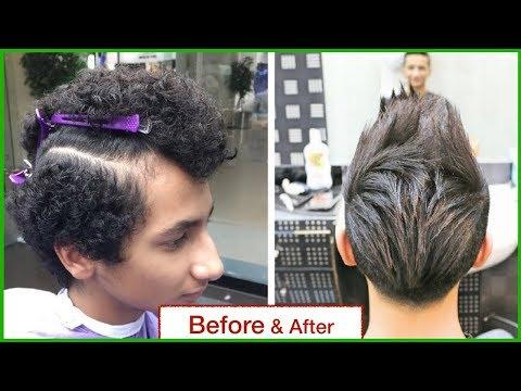 HAIR STRAIGHTENING FOR SHORT HAIR★HAIR TRANSFORMATION★MEN'S HAIRCUT & HAIRSTYLE★HAIR TUTORIAL.✔️