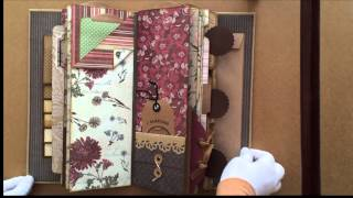 Hello Everyone, Finally I am able to share with you this lovely handmade vintage tall skinny mini album that I completed recently.