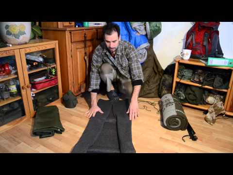 Wolldecke zusammen-rollen / zusammen-legen | Outdoor AusrüstungTV
