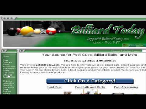 How to purchase Billiard and Pool Accessories.- A Video Review