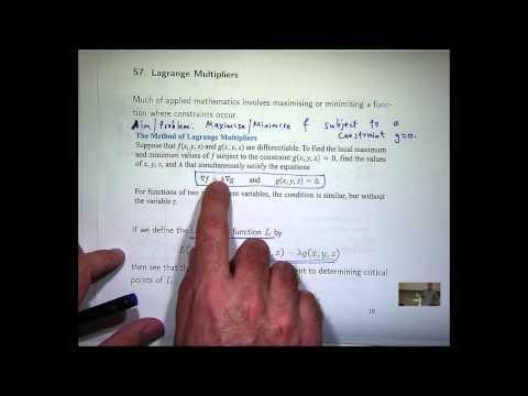 Lagrange-Multiplikatoren