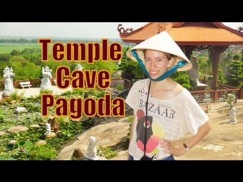 Visiting Chua Hang Cave Pagoda in Chau Doc, Mekong Delta, Vietnam