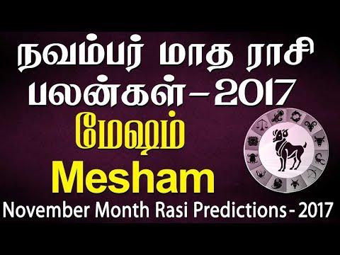 Mesham Rasi Aries November Month Predictions 2017 – Rasi Palangal