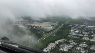 Le Bourget France  City pictures : Boeing 777 Approach and Landing Runway 25 LeBourget Airport France at Weather Minimums