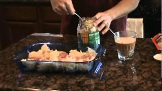 How to make baked pork chops and sauerkraut.