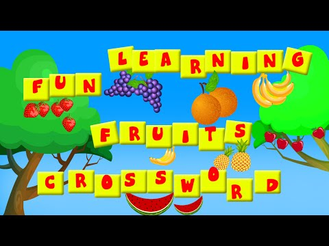 Fruits Crossword l Crosswords l Fun Learning l Teach Kids l Teaching Kids