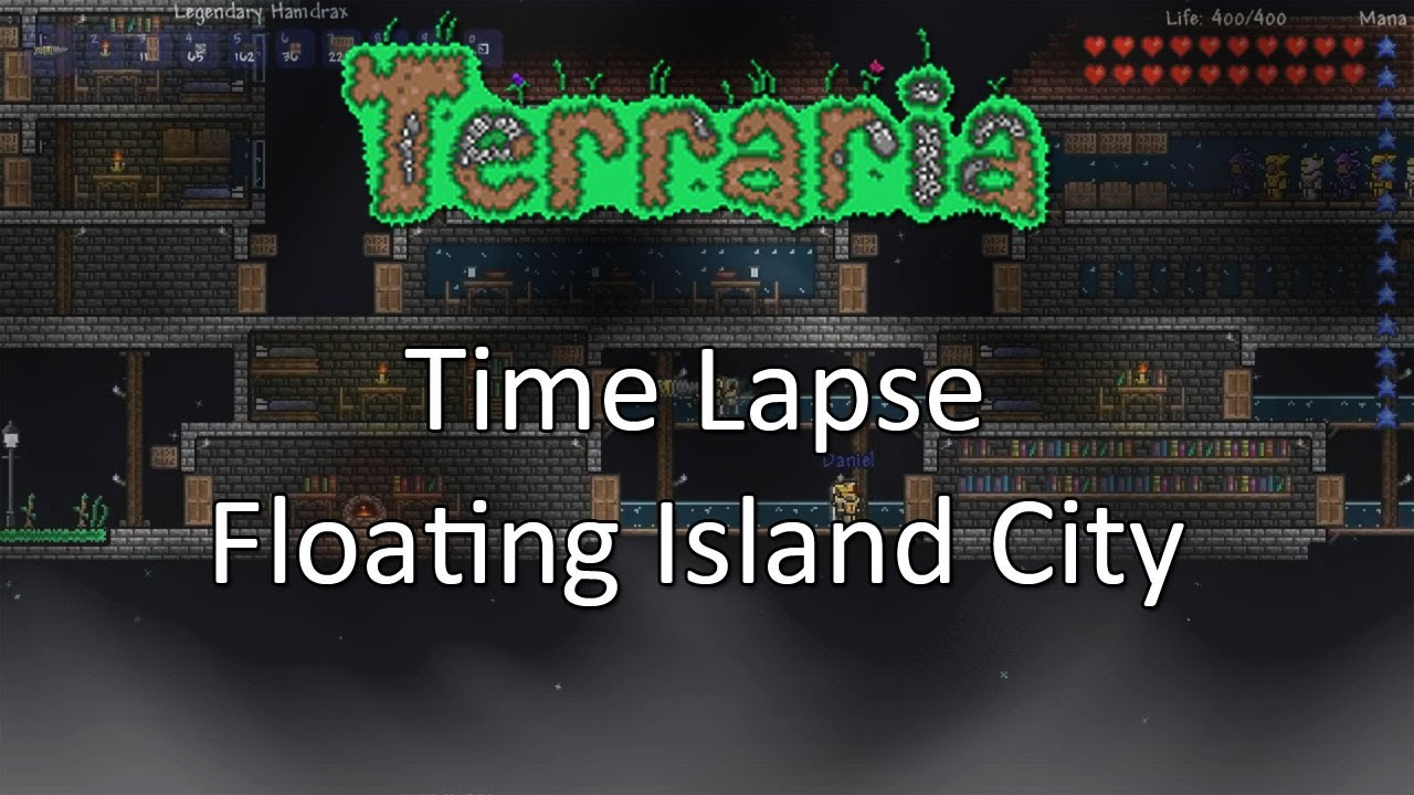 Terraria: Time Lapse — Floating Island City!