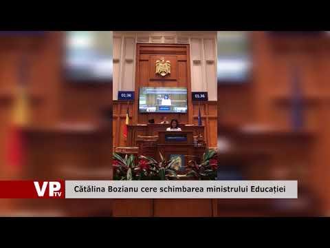 Cătălina Bozianu cere schimbarea ministrului Educației