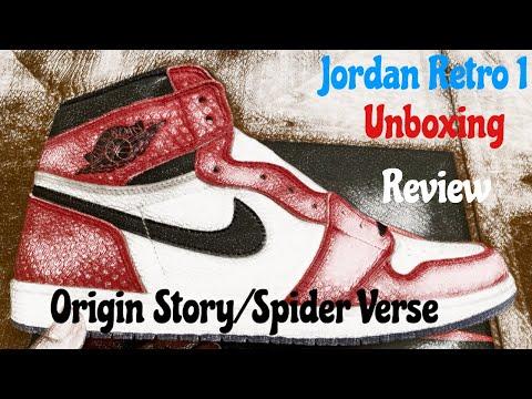 c7f00529c765 Download Jordan Retro 1 Spiderman Origin Story. Spider Verse Jordan 1.  Unboxing   Detailed Review w  McFly MP3