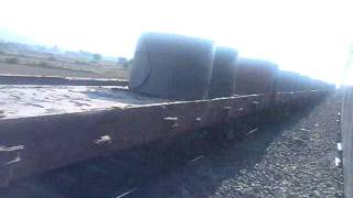 twin wdm 3a with a long goods train camera - nokia 5233 place -outer of katni jntime - near abt 1 pm
