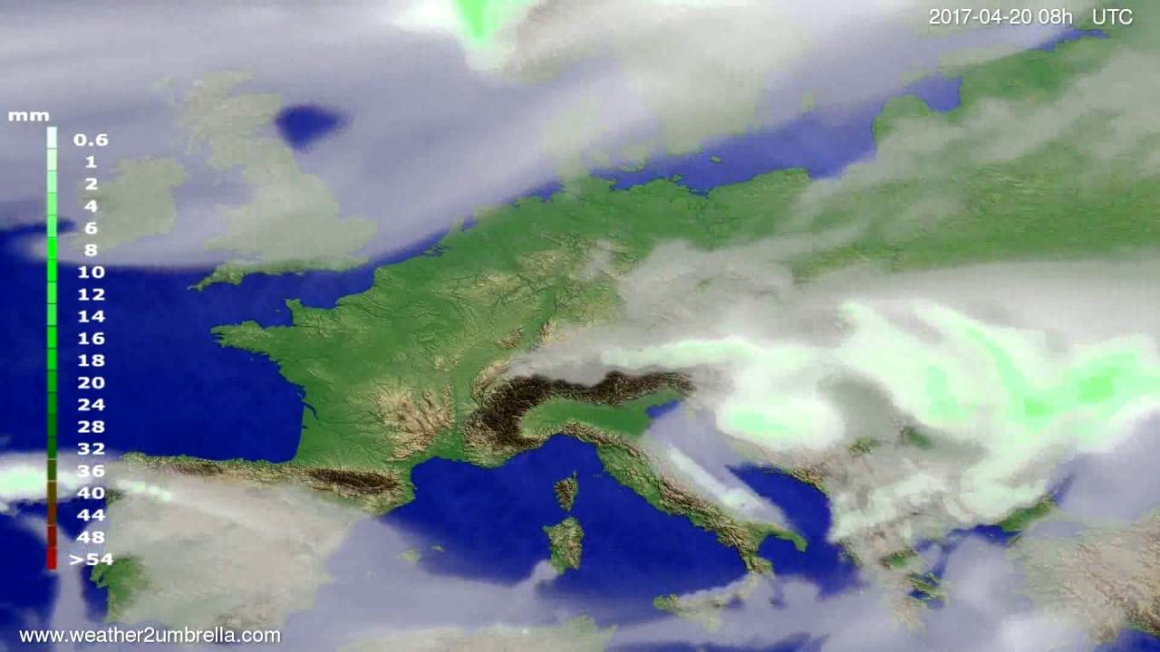 Precipitation forecast Europe 2017-04-17