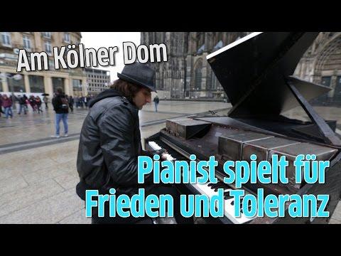 Pianist Davide Martello spielt für Frieden und Toleranz in Köln