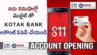 How to open kotak 811 account in 5 min