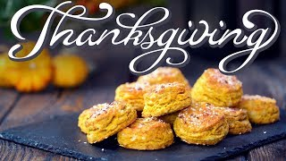 Thanksgiving Side Dishes: Pumpkin Biscuits by Home Cooking Adventure