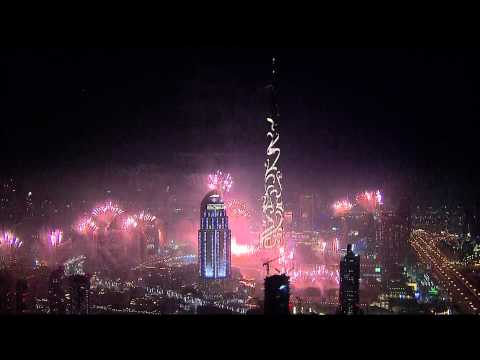 Dubai New Year Fireworks 2015 HD 1080p