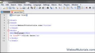 Html And Css Tutorial - 6-  How To Create Links In Html