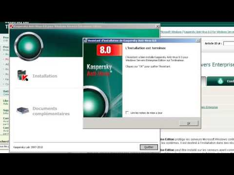 comment installer l'antivirus kaspersky