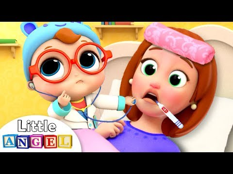 Mommy is Sick | Boo Boo Song | Little Angel Nursery Rhymes