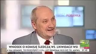 Nazywam się Antoni Macierewicz i oświadczam, że nigdy nie mówiłem, iż w Smoleńsku był zamach.