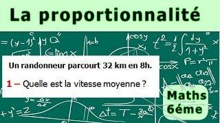 Maths 6ème - La proportionnalité la vitesse moyenne Exercice 2