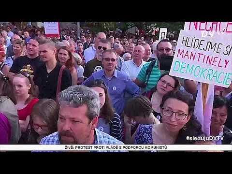 Martin Jaroš, Václavské náměstí, 5.6.2018. Akce - Jednou provždy! Milion chvilek pro demokracii