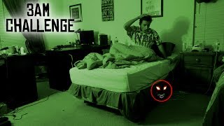 DO NOT RECORD YOURSELF SLEEPING AT 3 AM // 3 AM SLEEPING CHALLENGE GONE WRONG! (PARANORMAL ACTIVITY)