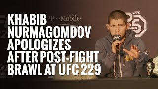 Video Khabib Nurmagomedov apologizes after post-fight brawl at UFC 229 MP3, 3GP, MP4, WEBM, AVI, FLV Oktober 2018