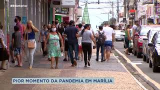 Covid-19: casos aumentam e preocupam autoridades de Marília