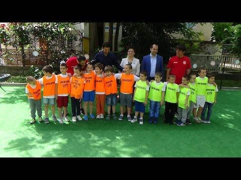 Откриване  на площадка на детска футболна школа
