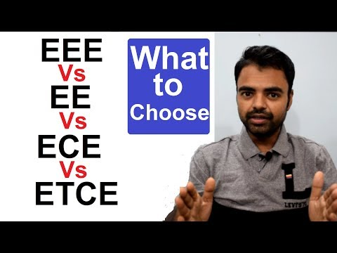 EEE Vs ECE Vs EE Vs ETCE Which one is Better Scope, Govt Jobs, Private Jobs Salary in India Hindi