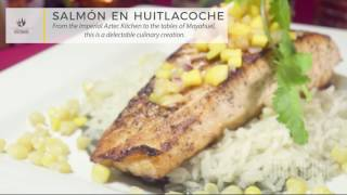 SALMÓN EN HUITLACOCHE - A dish with an array of complementary flavors!
