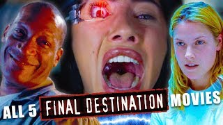 FORCED MY FRIEND (WHO HATES GORE) TO WATCH *FINAL DESTINATION* (MARATHON REACTIONS)