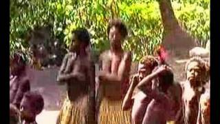 En Mélanésie dans le Pacifique Sud, voici le Vanuatu et ses tribus aborigènes de l'île de Tana en pleine danse rituelle et...