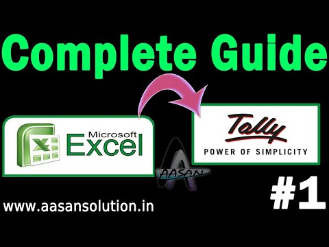 Excel to Tally part 1| Excle to Tally Complete Guide
