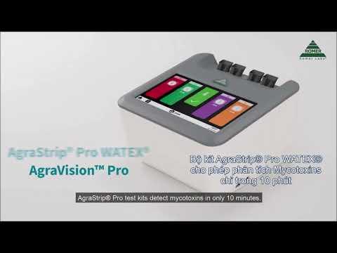 Hướng dẫn sử dụng bộ kit AgraStrip® Pro WATEX® phân tích Mycotoxins