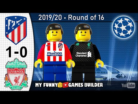 Atletico Madrid vs Liverpool 1-0 • Champions League (18/02/2020) All Goals Highlights Lego Football