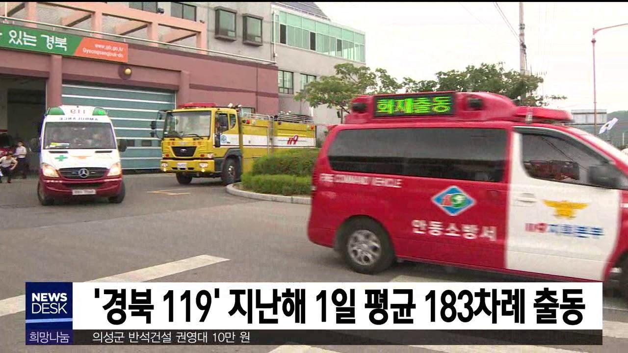 '경북 119' 지난해 1일 평균 183차례 출동