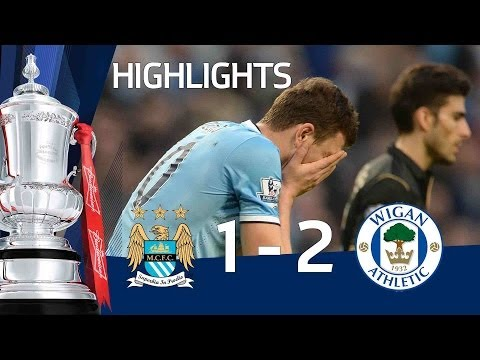 MANCHESTER CITY VS WIGAN 1-2: Official goals and highlights FA Cup Sixth Round HD