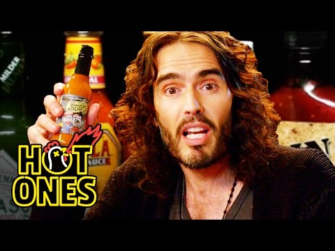 Russell Brand Finds New Levels of Consciousness While Eating Increasingly Hot Vegan