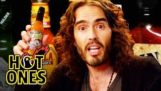 Video Russell Brand Achieves Enlightenment While Eating Spicy Wings | Hot Ones MP3, 3GP, MP4, WEBM, AVI, FLV Agustus 2019