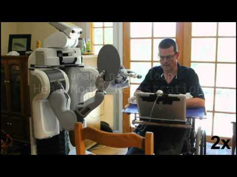 Charlie Kemp, director of the Healthcare Robotics Lab and Heath Evans. (video)