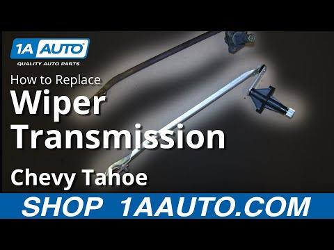 How To Install Replace RH Wiper Transmission 1995-99 Chevy Tahoe GMC Yukon