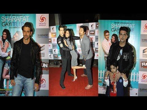 Hrithik Roshan & Other Celebs At Screening Of Movie Sharafat Gayi Tel Lene