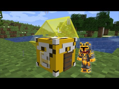 Minecraft LUCKY BLOCK HOUSE MOD / SPAWN LUCKY BLOCK HOUSES AND SURVIVE !! Minecraft
