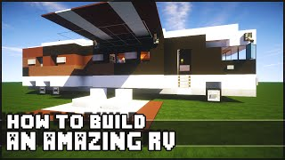 Minecraft Vehicle Tutorial - How to Build : Epic RV!